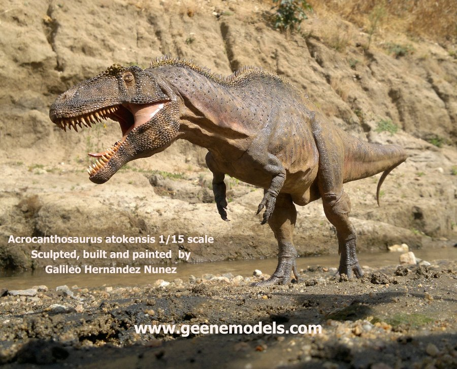Acrocanthosaurus by Galileo Nunez