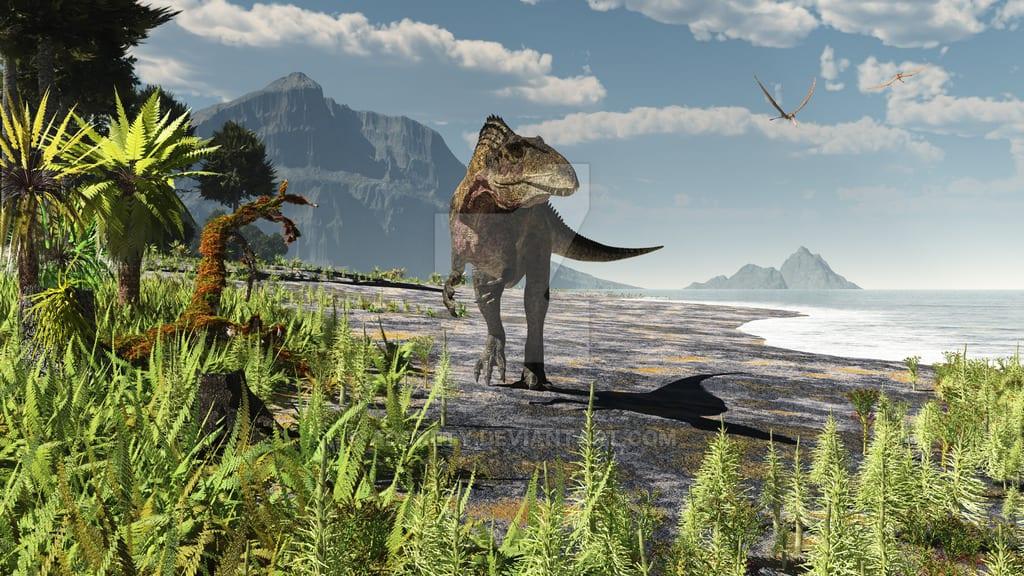 Acrocanthosaurus by Arthur J Dorety III