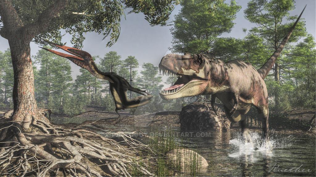 Tarbosaurus by James Kuether