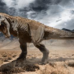 Tarbosaurus by Herschel Hoffmeyer