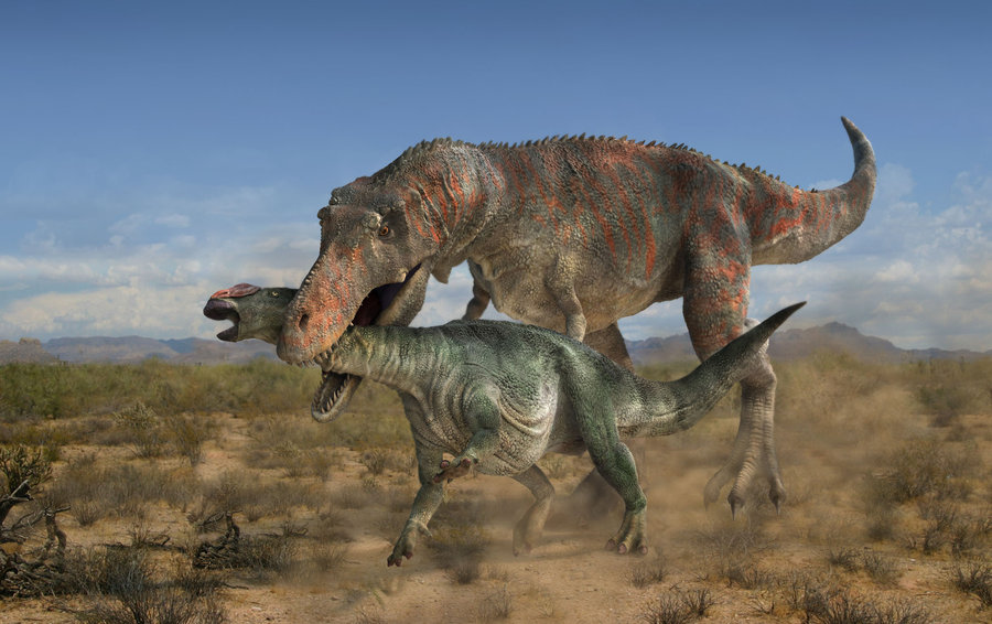 Tarbosaurus by Peter Minister
