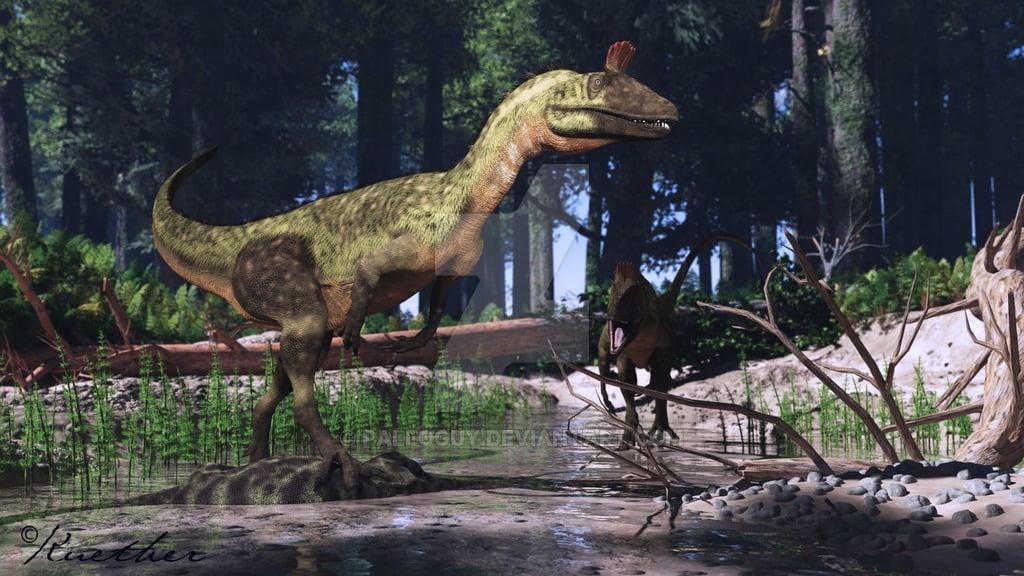 Cryolophosaurus by James Kuether