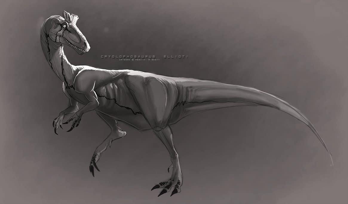 Cryolophosaurus by Pemzini