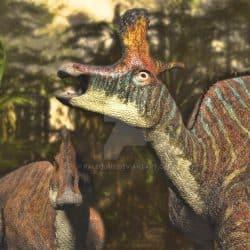 Lambeosaurus by Jk