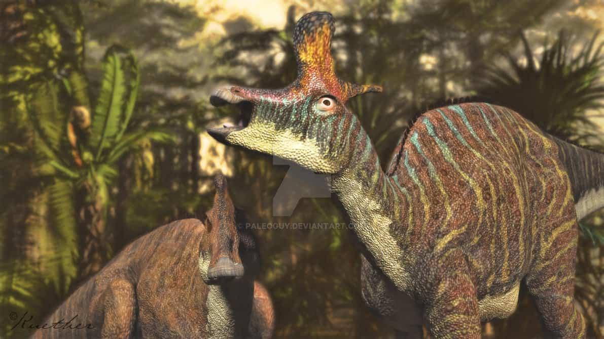 Lambeosaurus by James Kuether