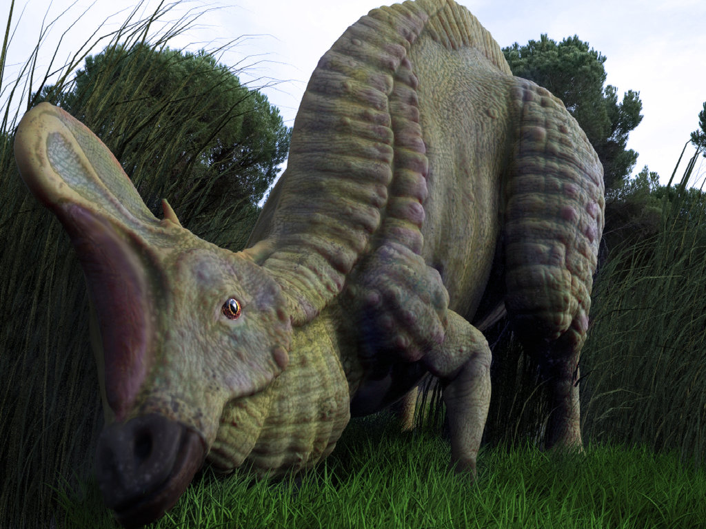 Lambeosaurus by Christopher Vaughan