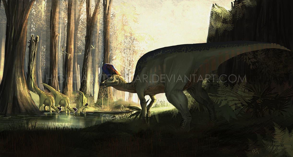Lambeosaurus by High Dark Templar
