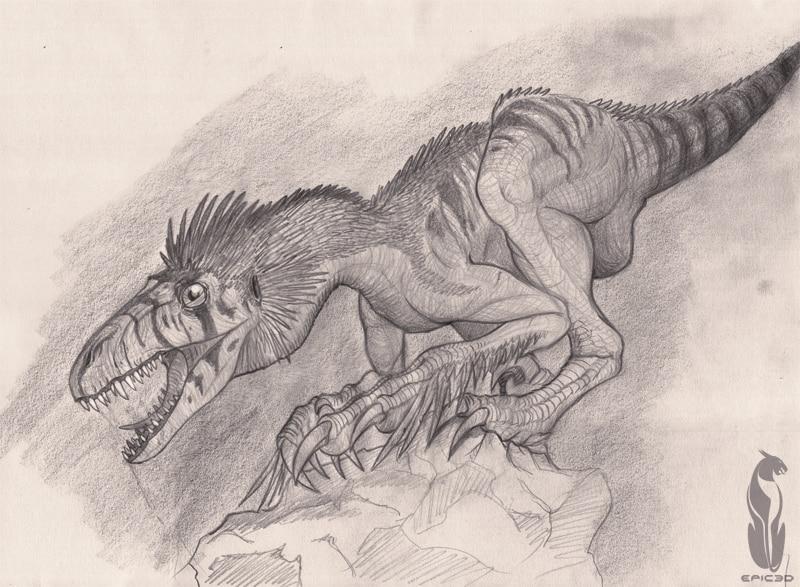 Dromaeosaurus by Jose Miguel Pino
