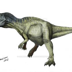 Metriacanthosaurus by Camus Altamirano