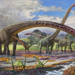 Mamenchisaurus by Sergey Krasovskiy