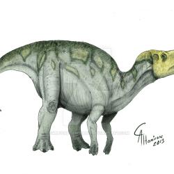 Hadrosaurus by Camus Altamirano
