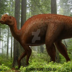Hadrosaurus by Frank Lode