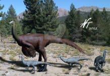 Ornithomimus by Nobu Tamura