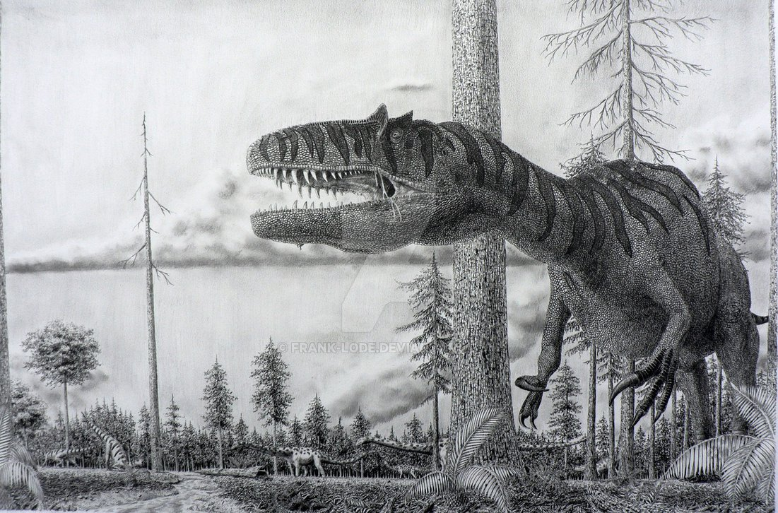 Saurophaganax by Frank Lode
