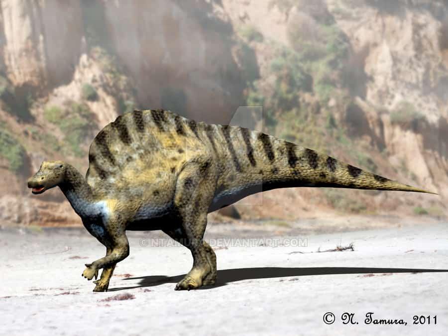 Ouranosaurus by Nobu Tamura