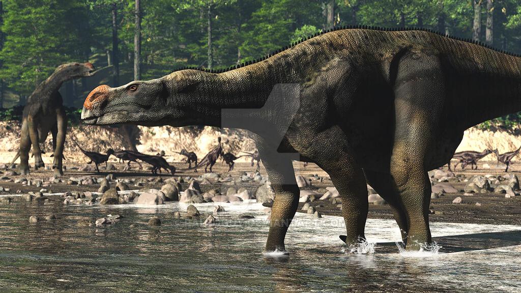 Muttaburrasaurus by James Kuether