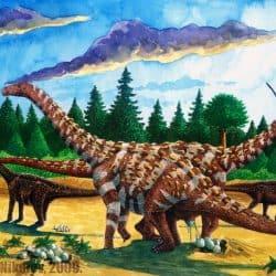 Saltasaurus by Vladimir Nikolov