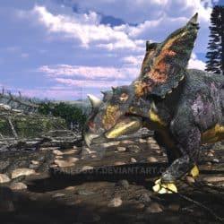 Chasmosaurus by Jk