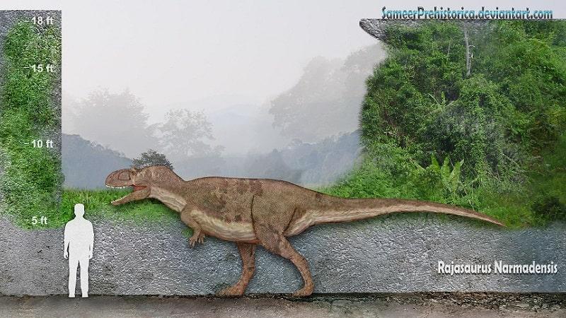 Rajasaurus by SameerPrehistorica
