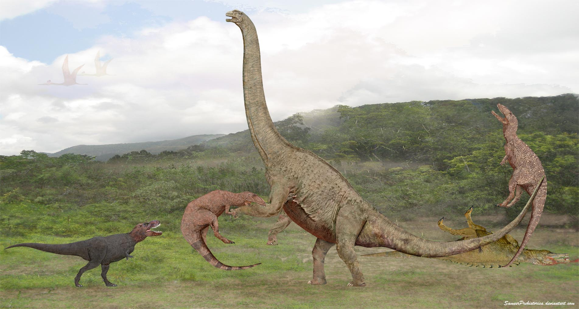 Argentinosaurus by SameerPrehistorica