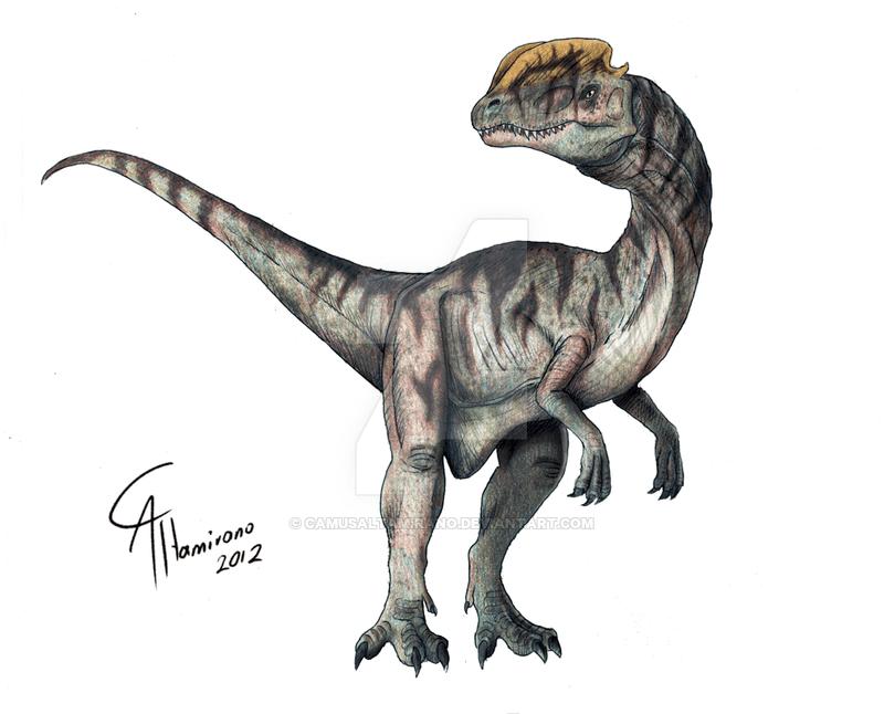 Dilophosaurus by Camus Altamirano