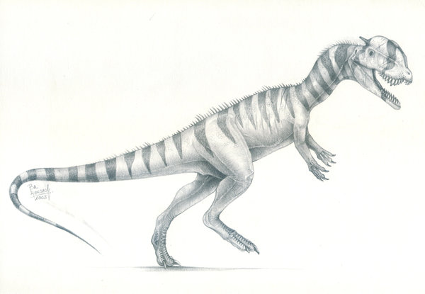 Dilophosaurus by Vladimir Nikolov