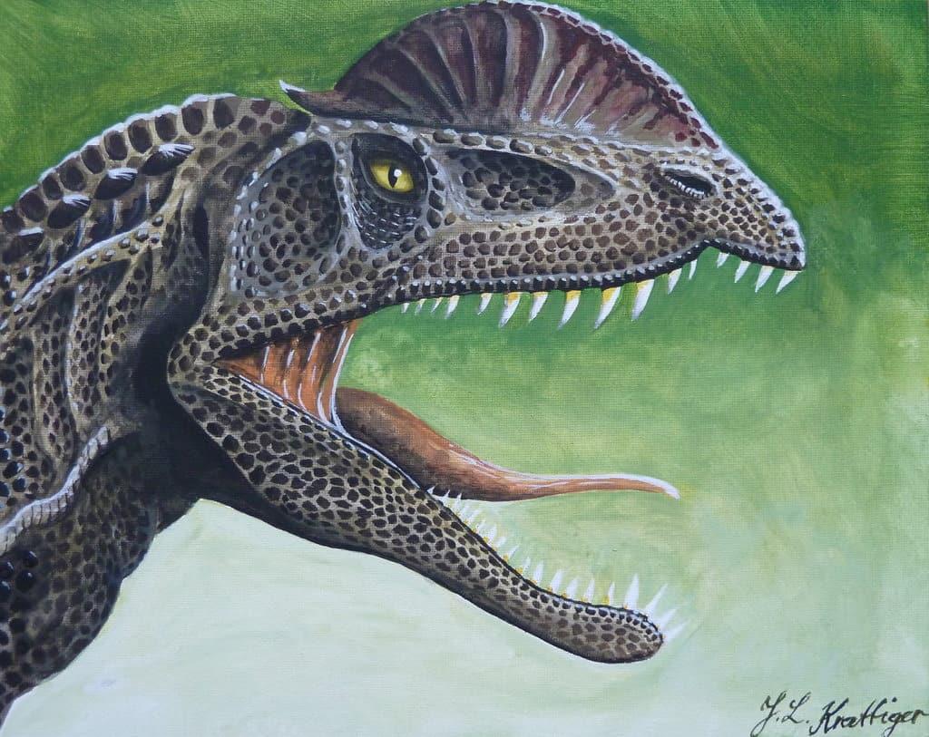Dilophosaurus by Polihierax
