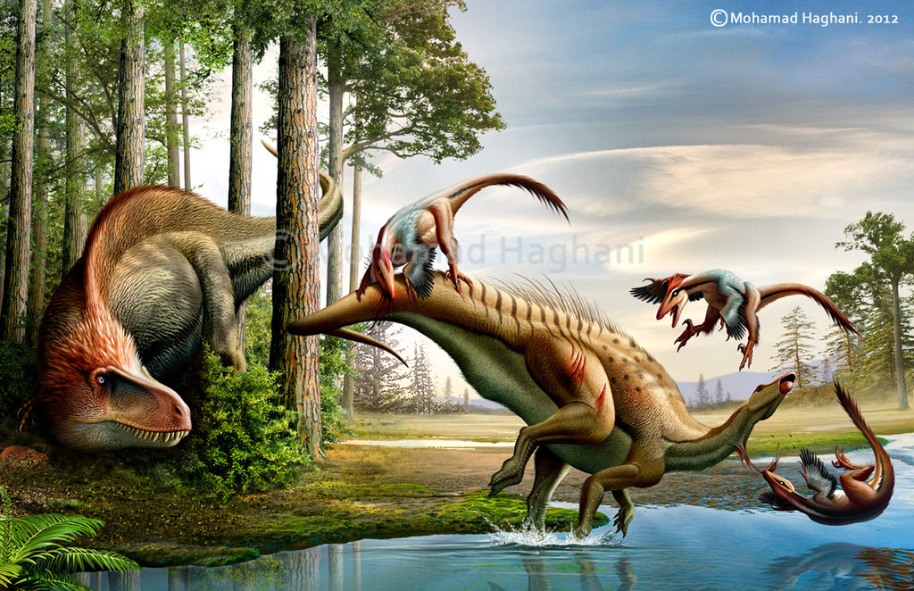 Deinonychus by Mohamad Haghani