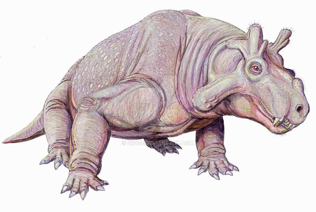 Estemmenosuchus by Dmitry Bogdanov