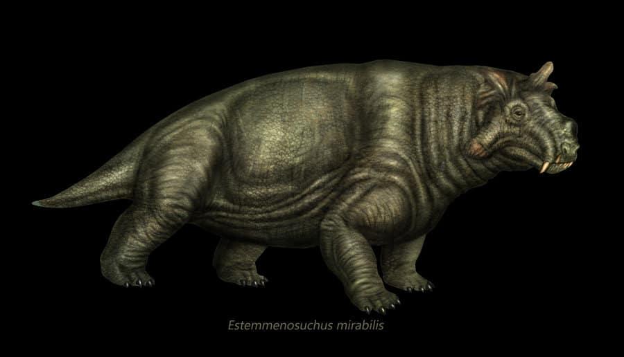 Estemmenosuchus by Eduardo