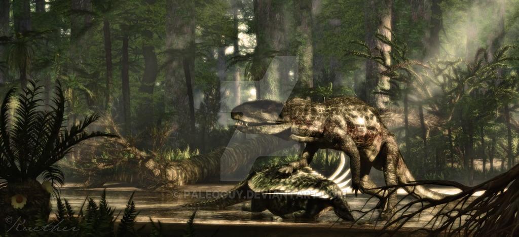 Postosuchus by James Kuether