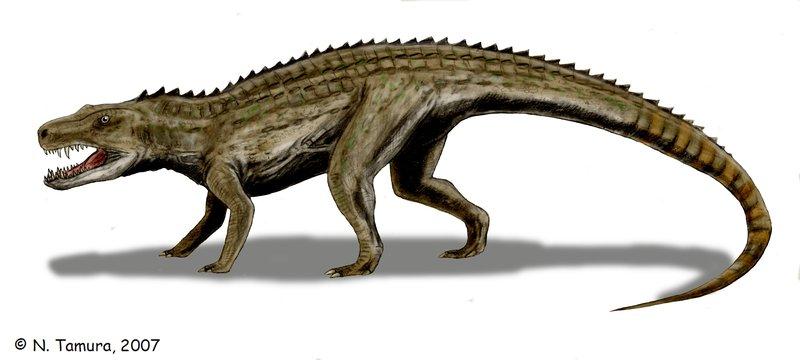 Postosuchus by Nobu Tamura