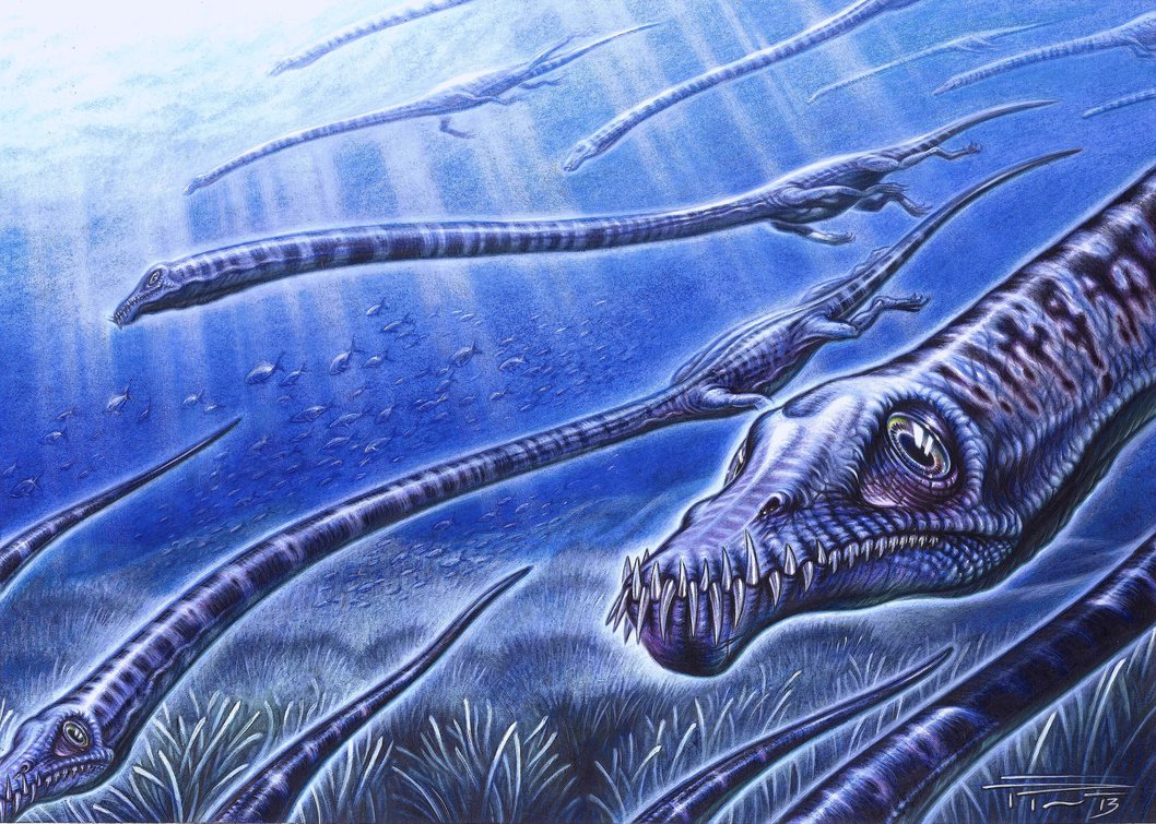 Tanystropheus by James Kuether