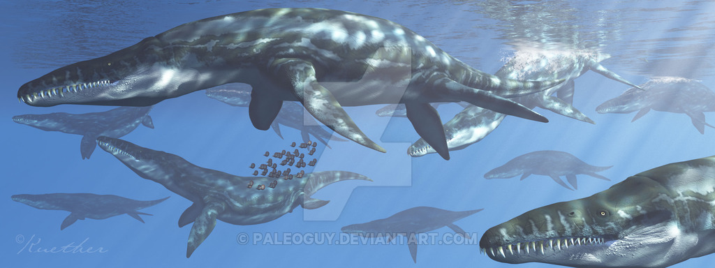Liopleurodon by James Kuether