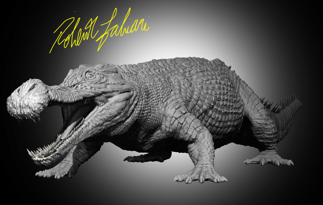 Sarcosuchus by Robertasaurus Fabiani