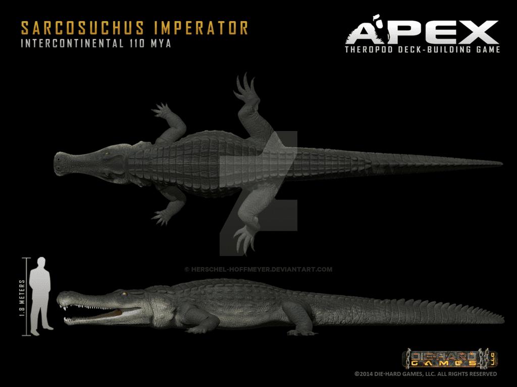 60b31e1c0d608 Sarcosuchus by Herschel Hoffmeyer
