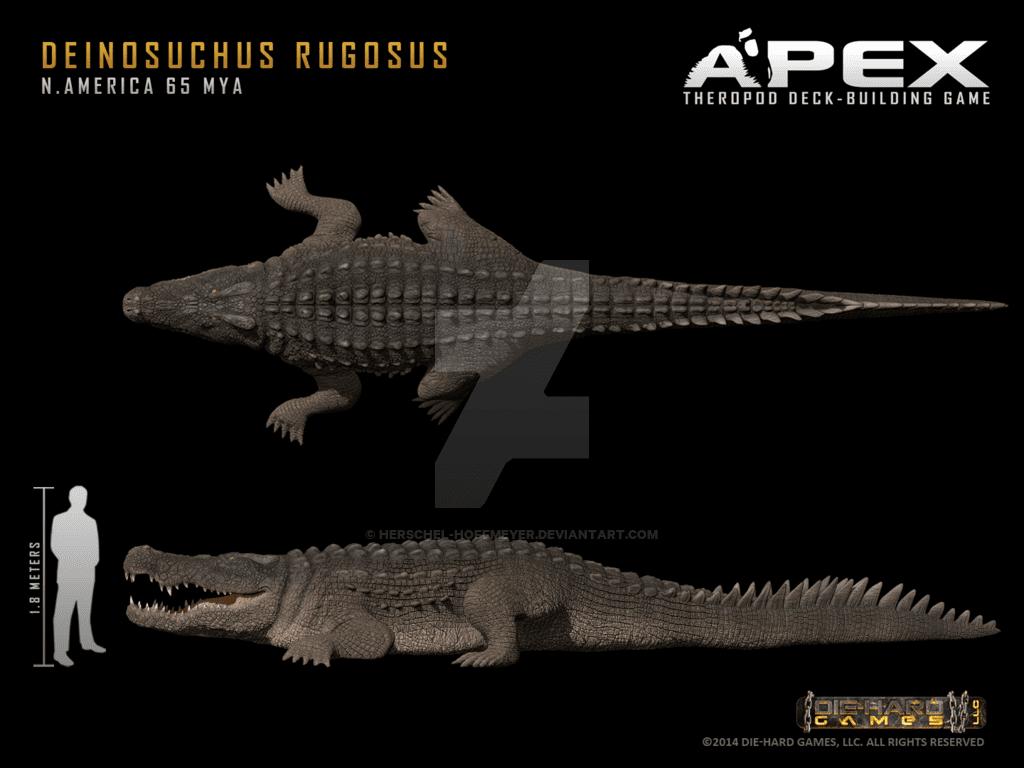 Deinosuchus by Herschel Hoffmeyer