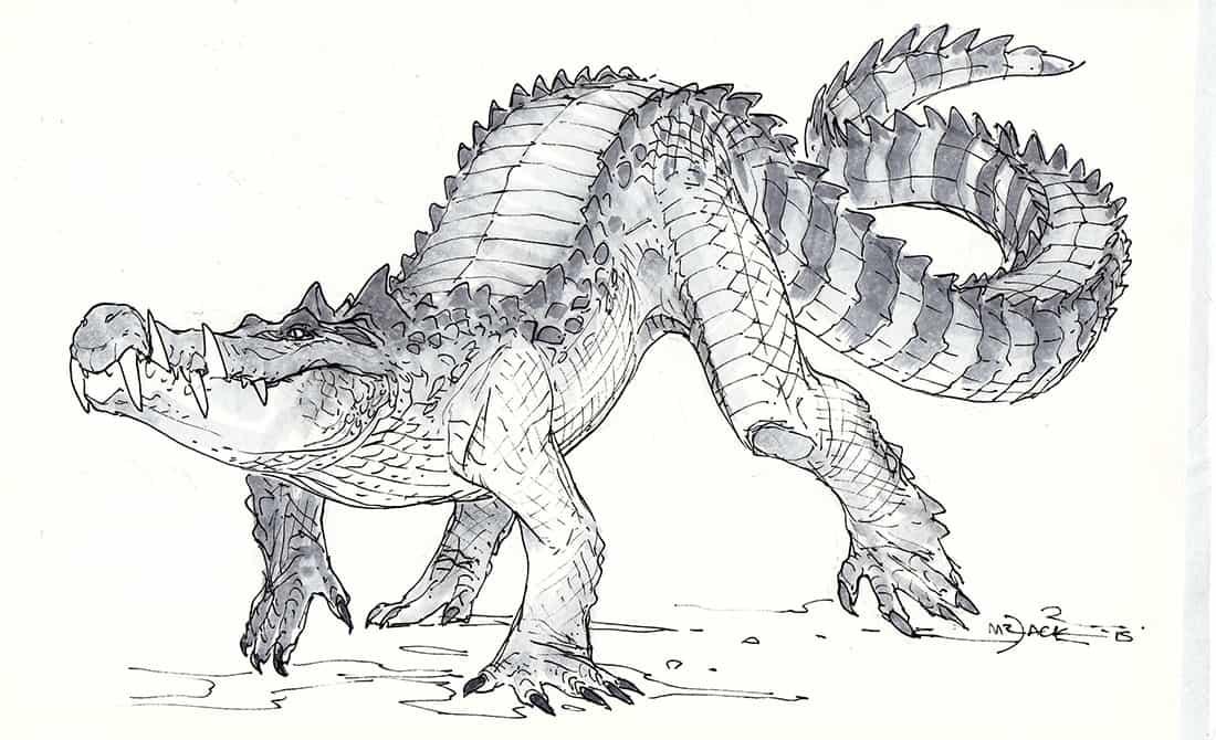 Kaprosuchus by Luke Mancini