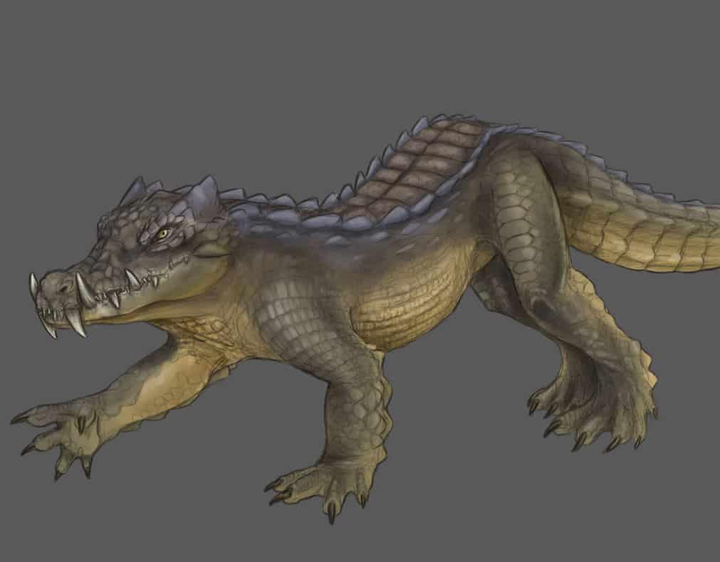 Kaprosuchus by Amanda