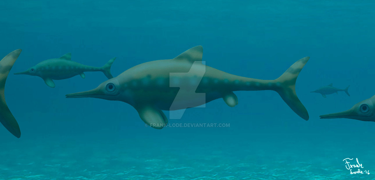 Ophthalmosaurus by Frank Lode
