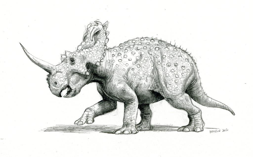 Centrosaurus by Paul Heaston