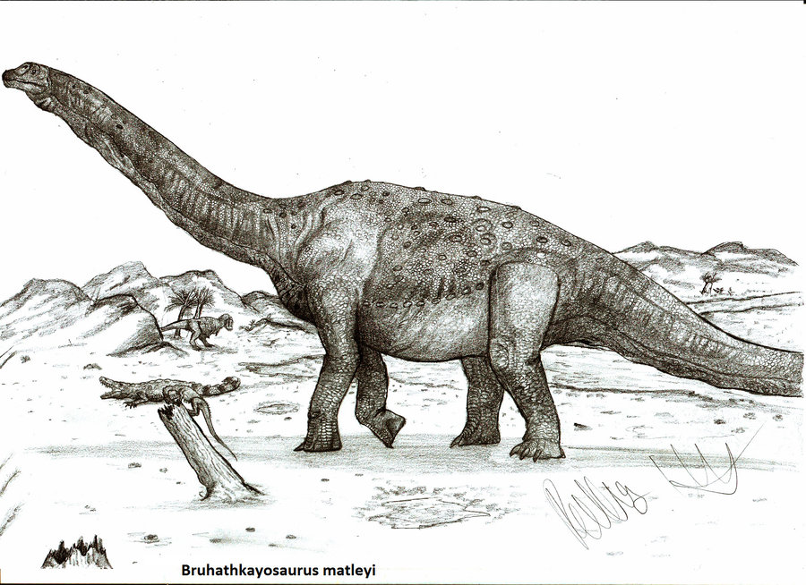 Bruhathkayosaurus by Robinson Kunz