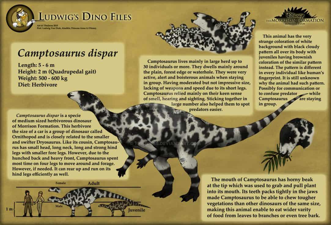 Camptosaurus by Waranont Wiwaha