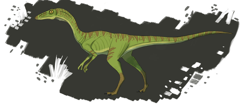 Procompsognathus by Ralph Bishop