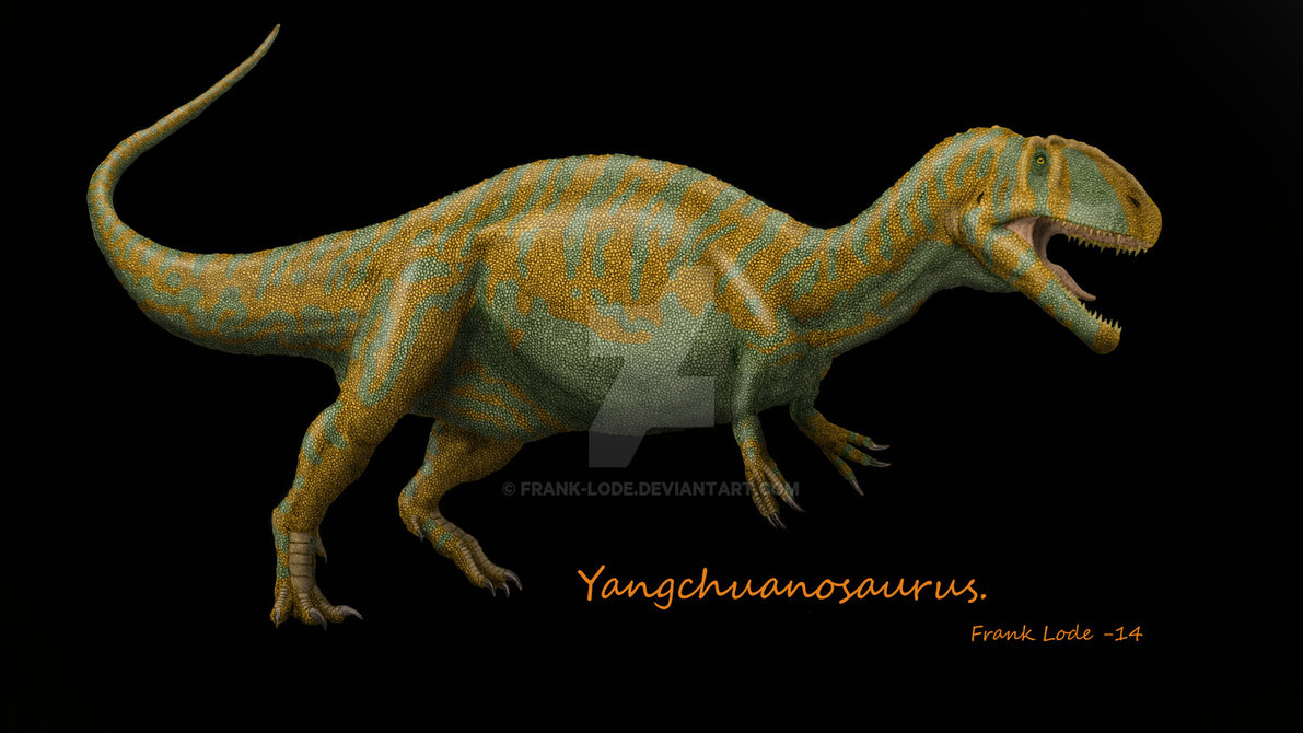 Yangchuanosaurus by Frank Lode